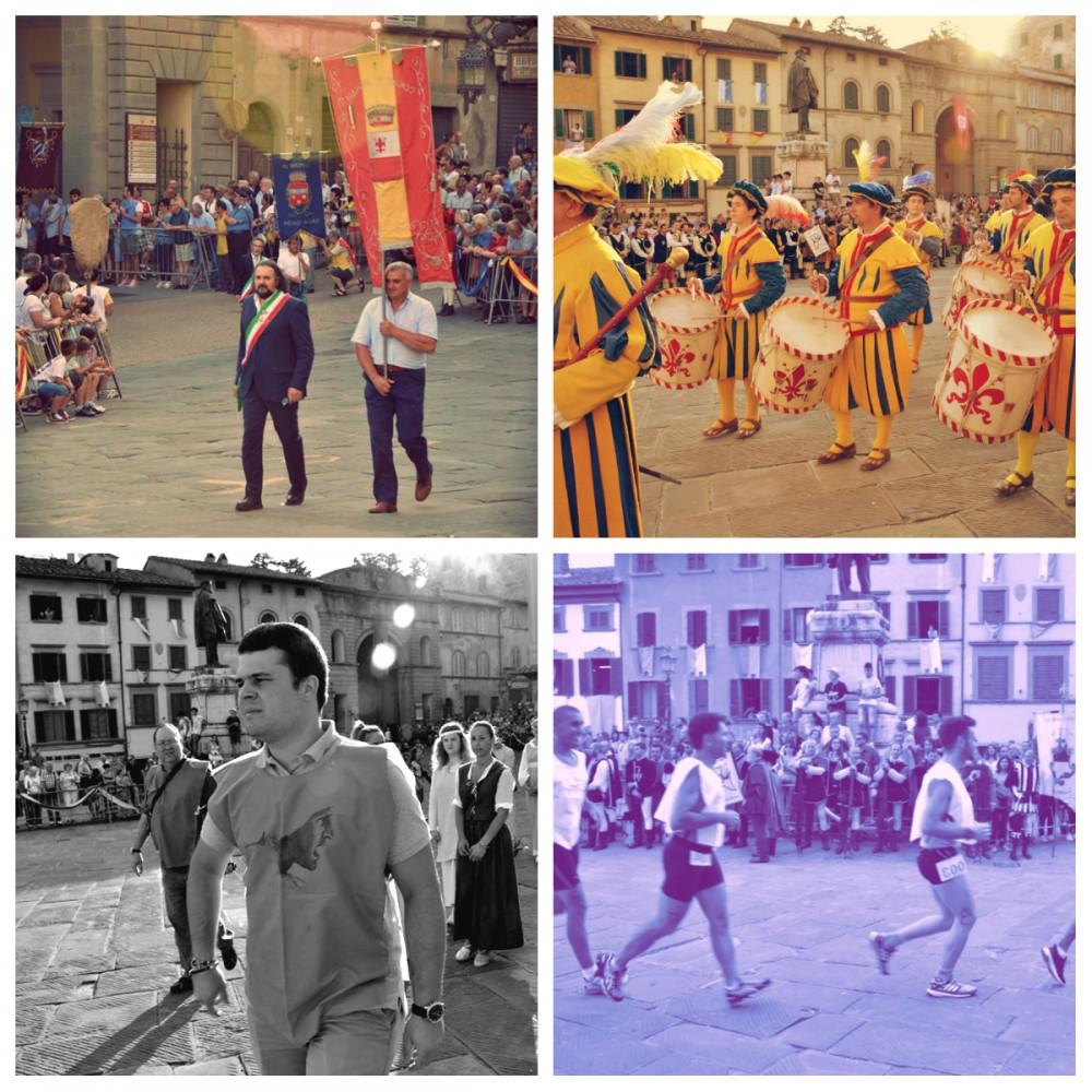 Alcuni momenti salienti della manifestazione elaborati con gli storici filtri vintage anghiaresi.